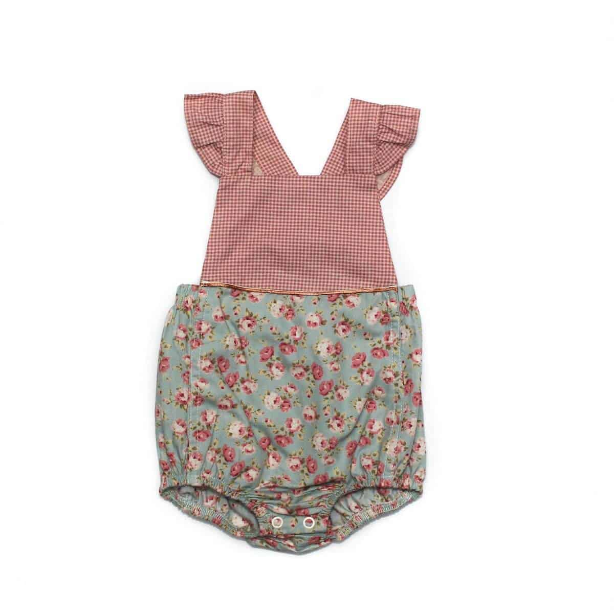 4e061a841 Stylish Onesie- Pink check/floral – Just Chillin Funky Kidswear