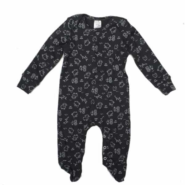 just-chillin-baby-boys-girls-unisex-babygrow-charcoal-white-farm-south-africa