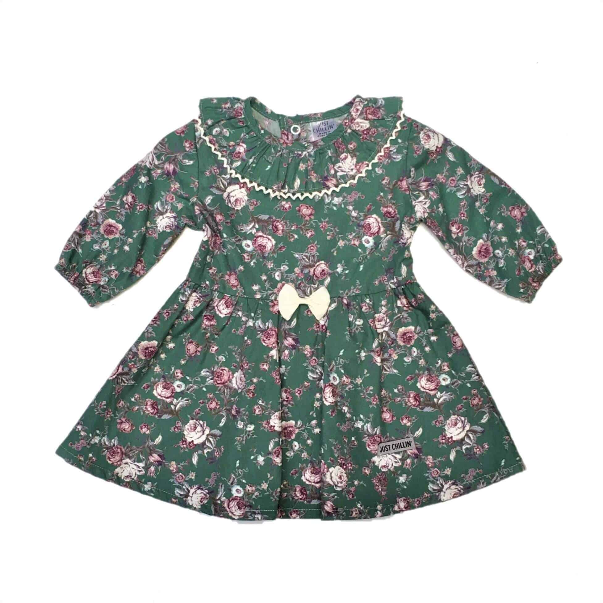 5f08230cce6c4 Baby Girls Dress - Green Floral