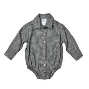 just-chillin-black-white-pattern-shirt-onesie-baby-boys