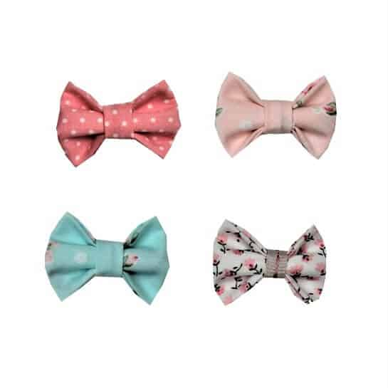 just-chillin-hair-bow-set-4-mint-coral-baby-girls