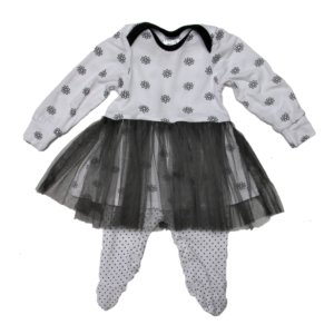 just-chillin-white-charcoal-flower-dots-babygrow-tutu