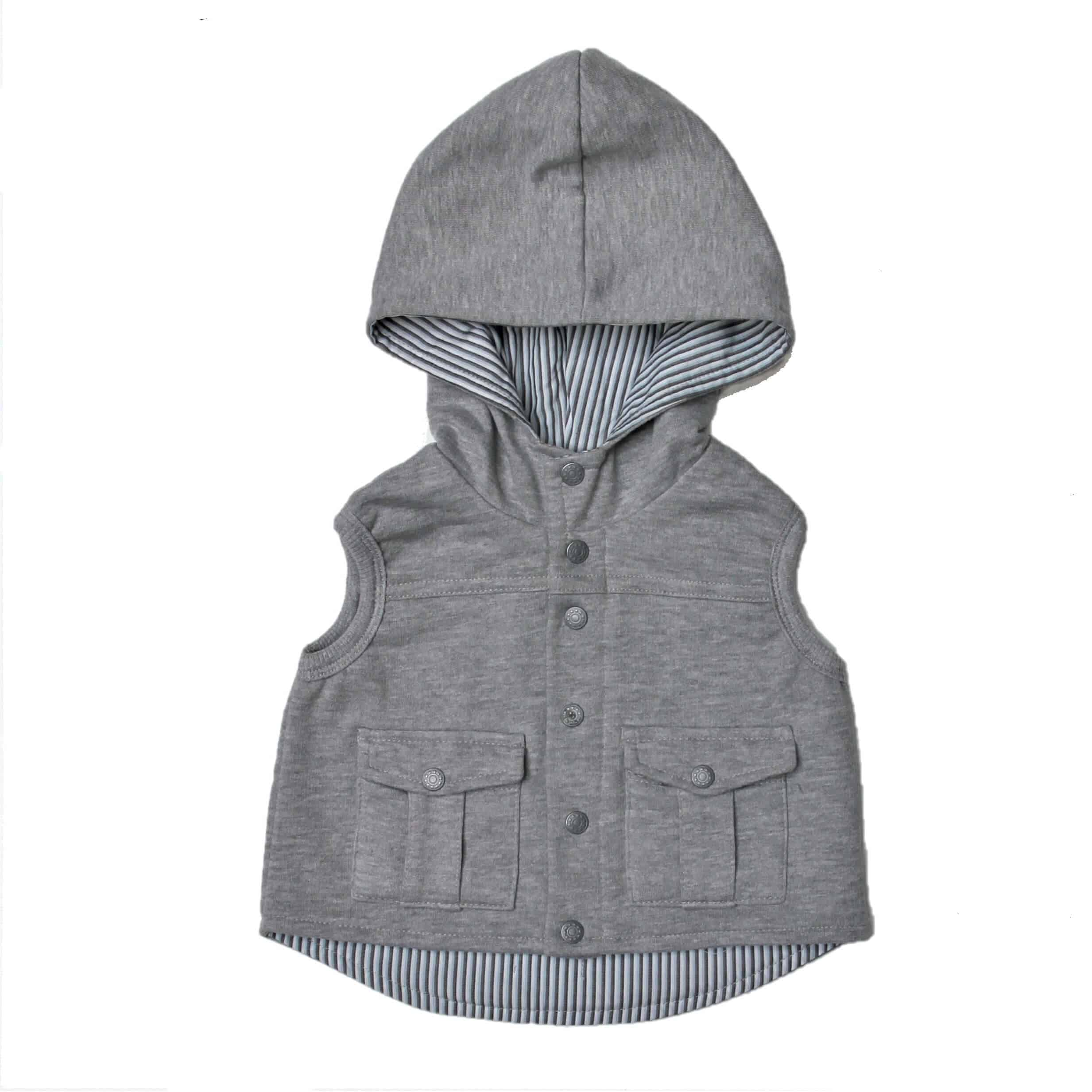 106ffaa8 Grey Sleeveless Hoodie - Just Chillin Baby Clothes Online South Africa