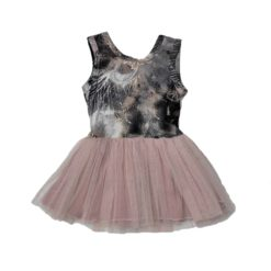 just-chillin-tutu-girls-dress-short-bow-charcoal-pink